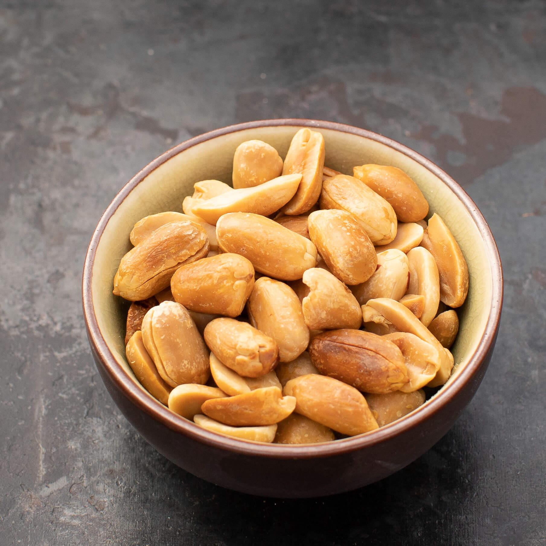 Geröstete Erdnüsse