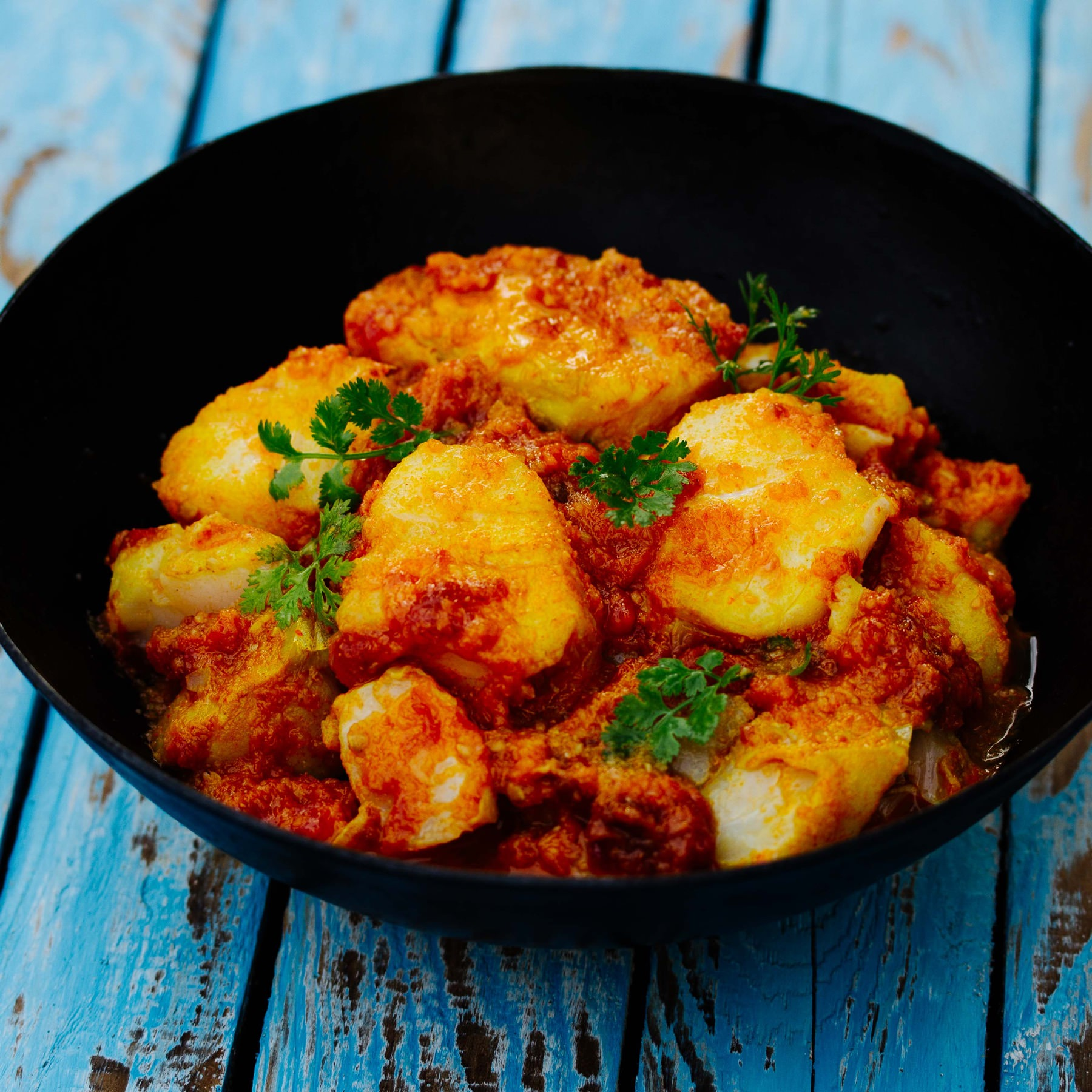 Burmesisches Curry mit Fisch - Nga Sipyan