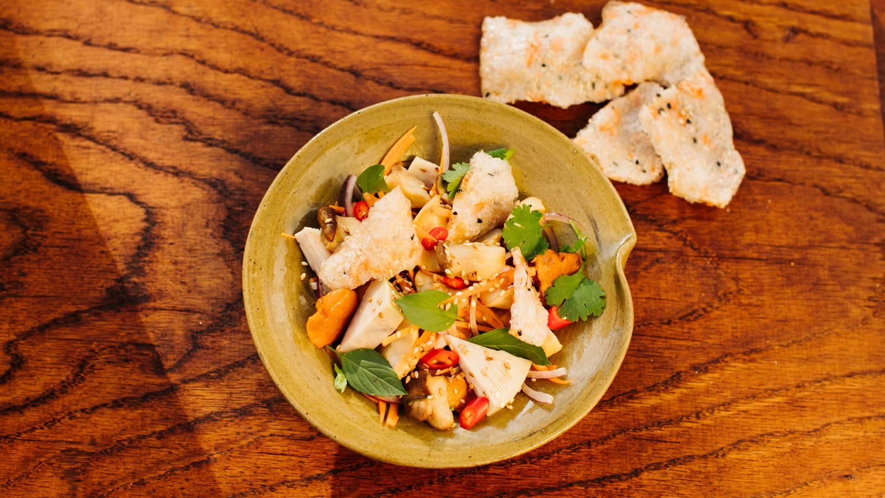 Veganer Jackfruit Salat aus Vietnam