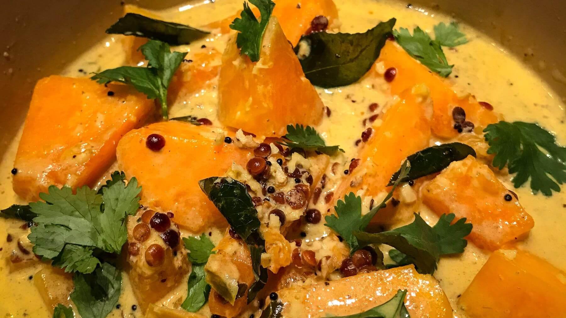 Butternut-Kürbis-Curry aus Südindien