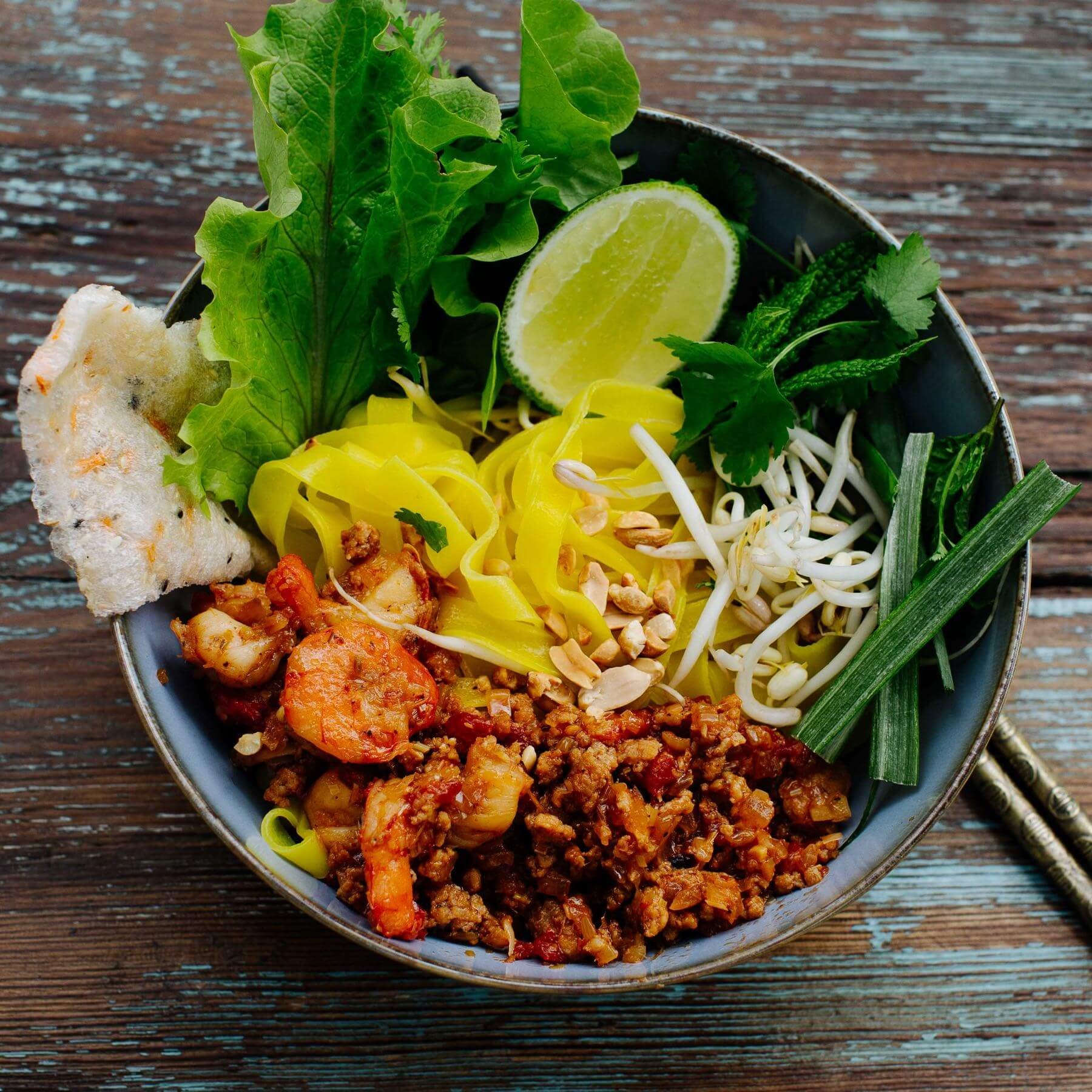 Gelbe Nudeln - Mi Quang