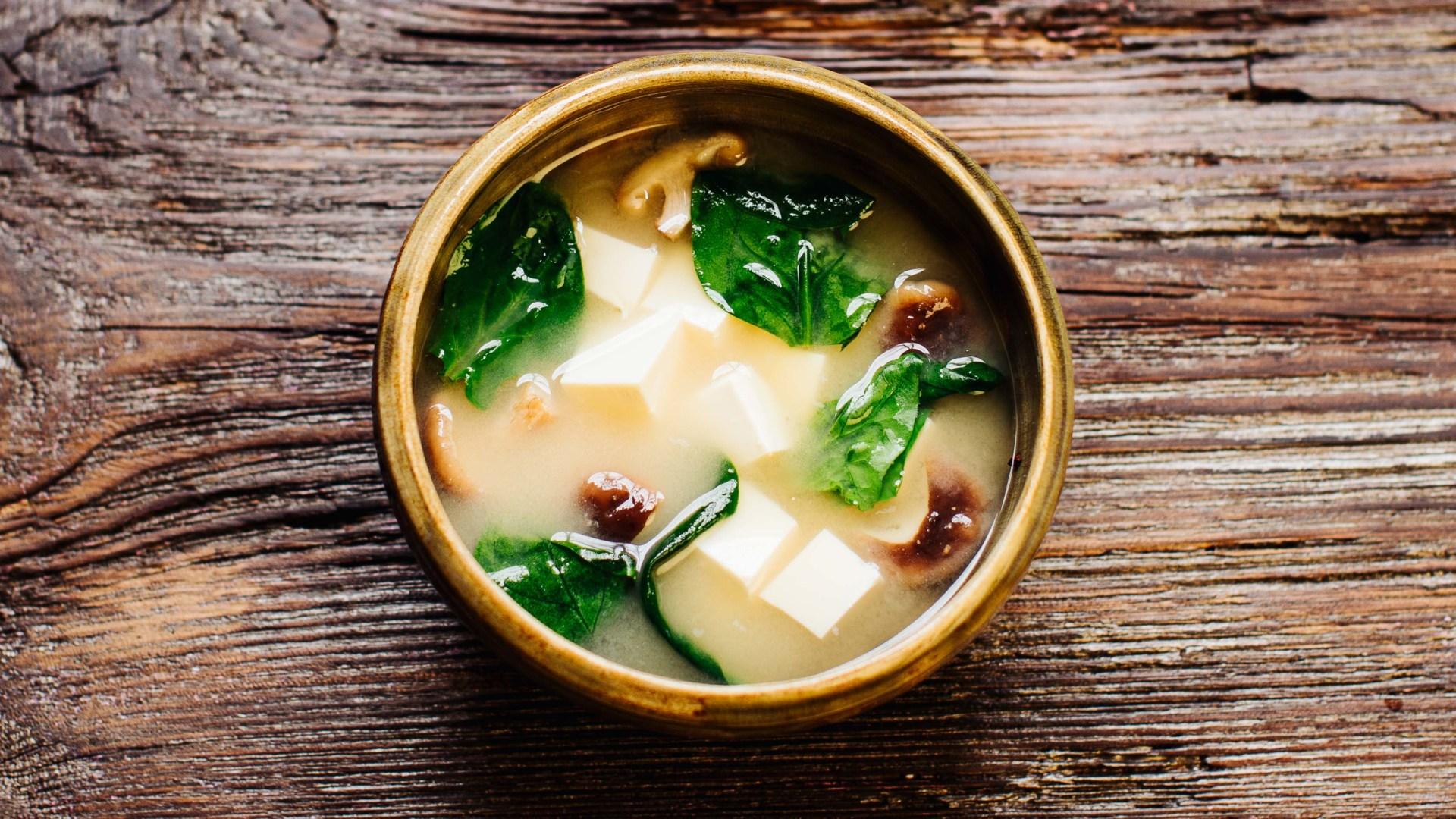 Misosuppe mit Shiitake-Pilzen und Tofu – Miso Shiru