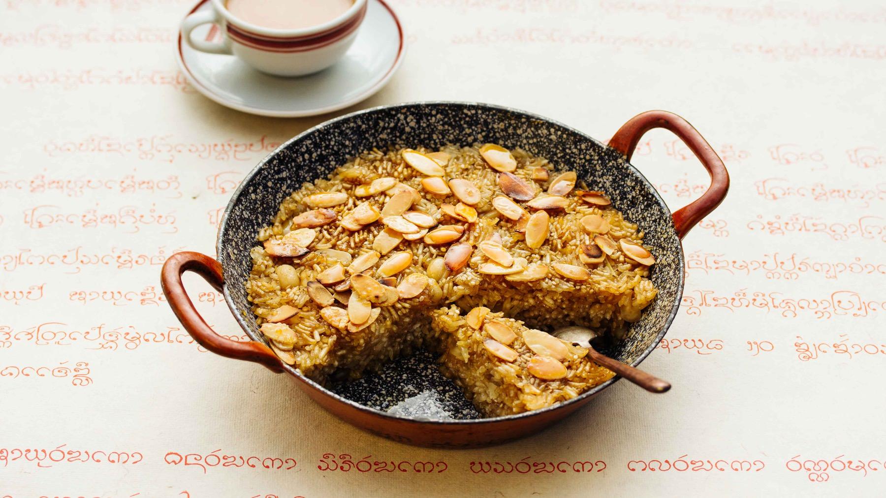 Burmesischer Reiskuchen mit Sesam - Shwe Htamin