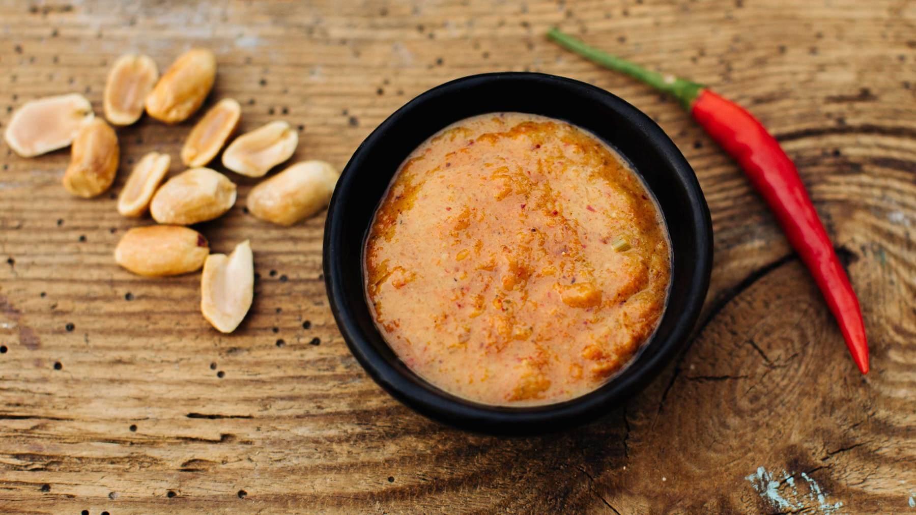 Erdnusssauce für Satay-Spieße