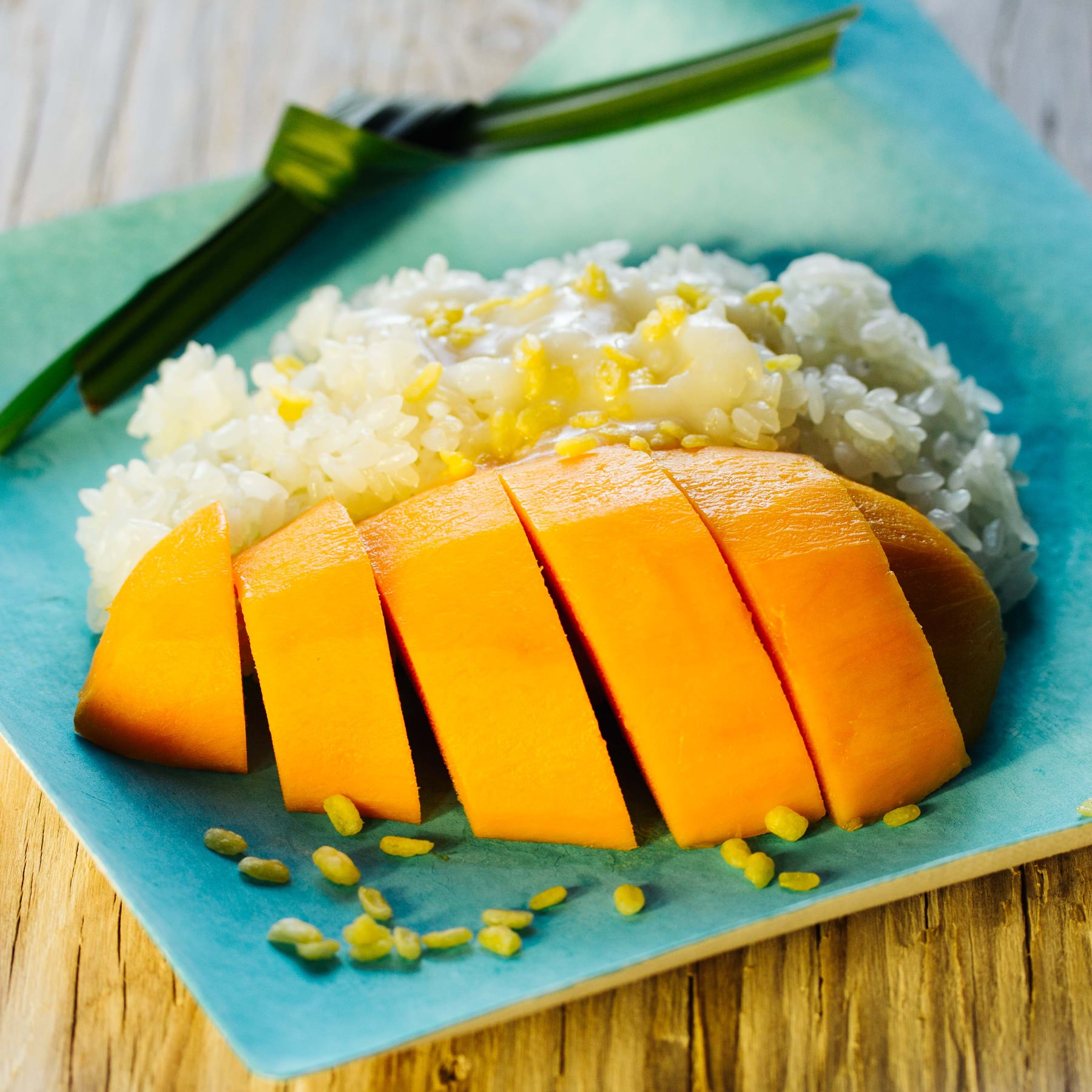 Mango Sticky Rice aus Thailand . Khao Niaow Ma Muang