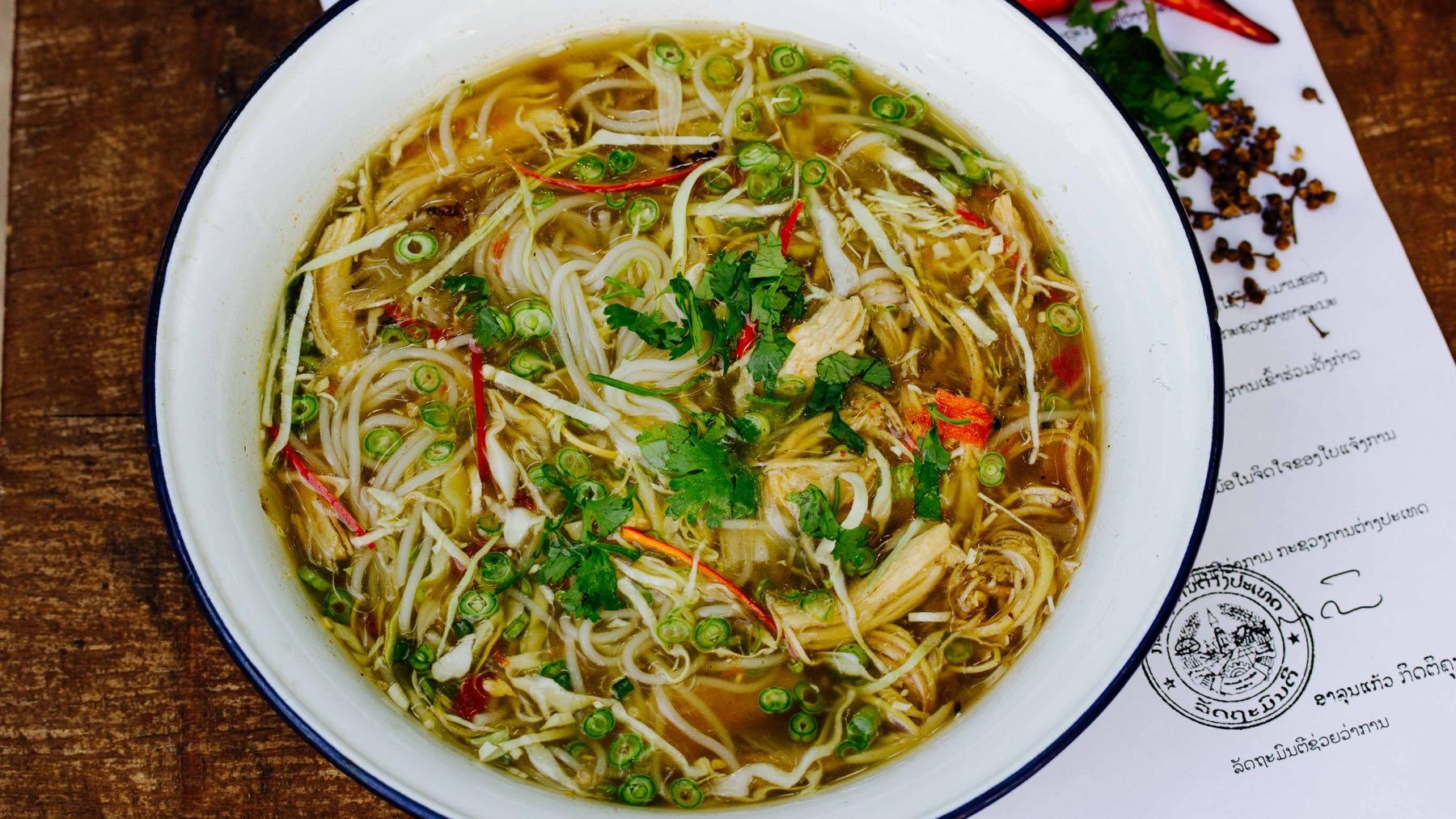 Hühnersuppe Xieng Khouang mit Szechuan Pfeffer
